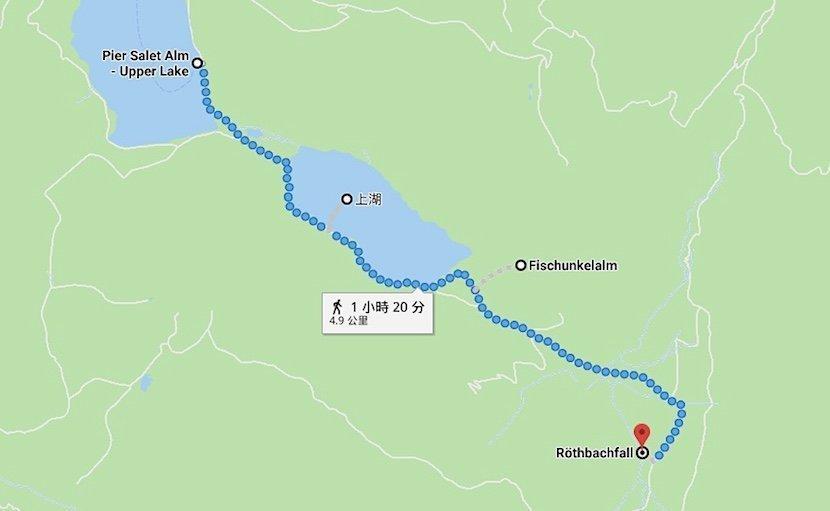 德國-國王湖-上湖健行路線圖