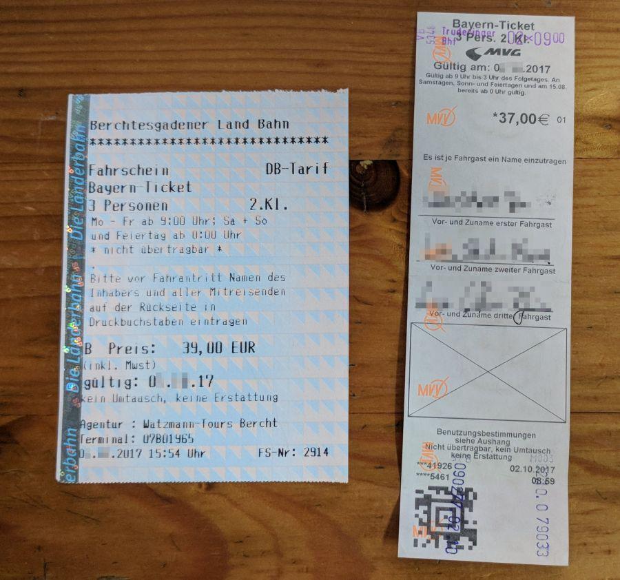 德國-拜楊邦票Bayern Ticket