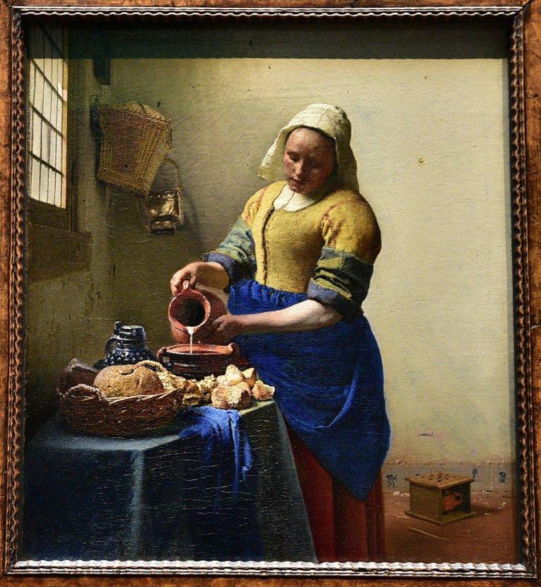 維梅爾-倒牛奶的女僕