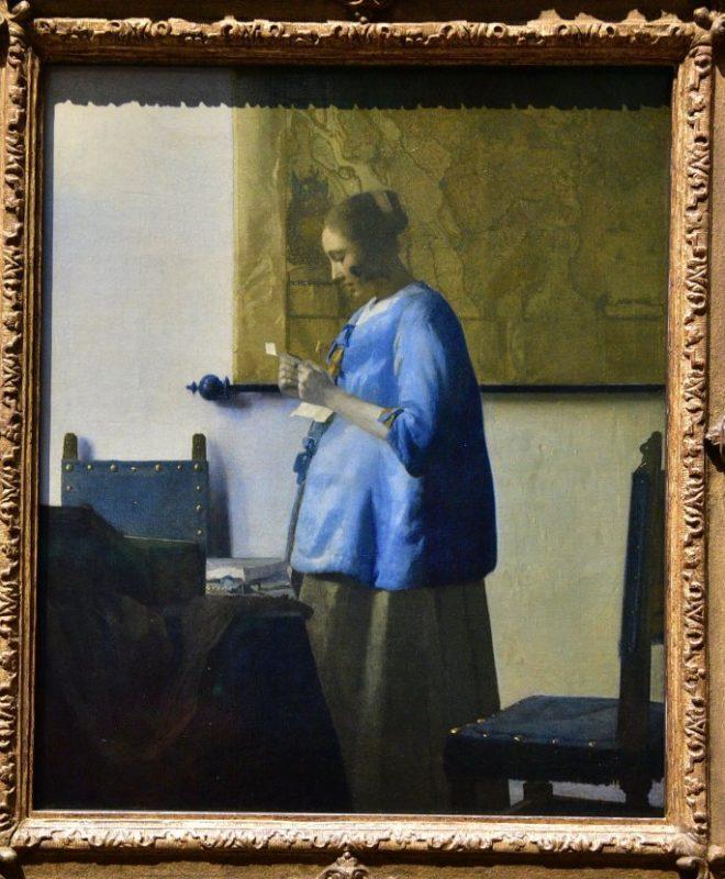 維梅爾-讀信的女子