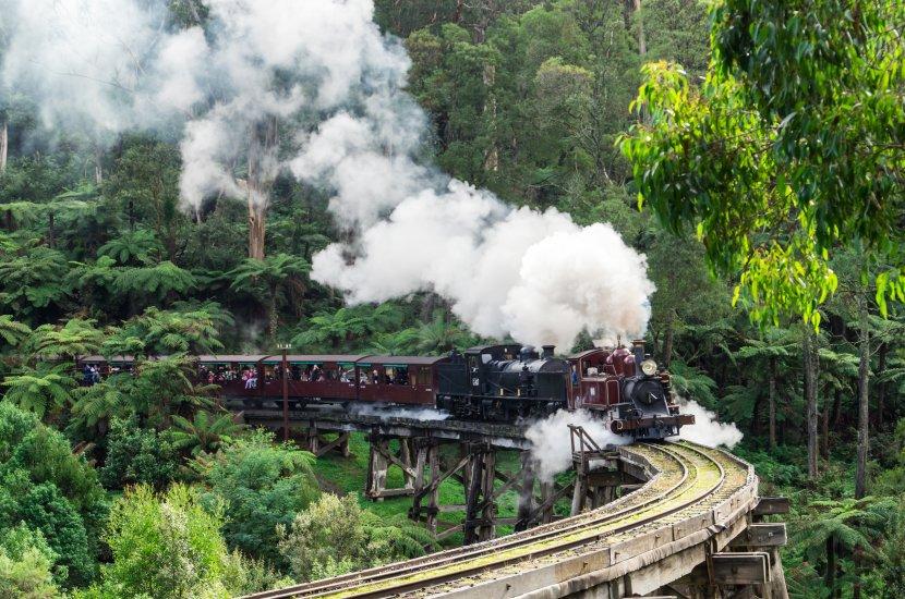 澳洲-墨爾本-Puffing Billy蒸汽火車