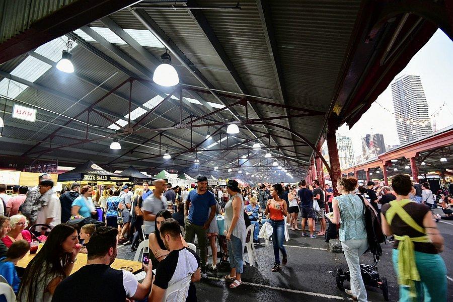 澳洲-墨爾本-維多利亞女王市場-夜市