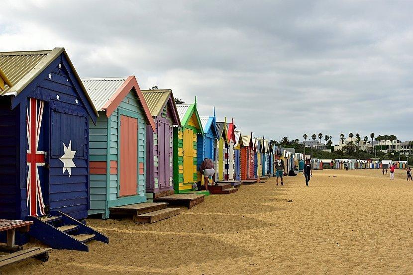 澳洲-墨爾本-Brighton Beach彩虹小屋