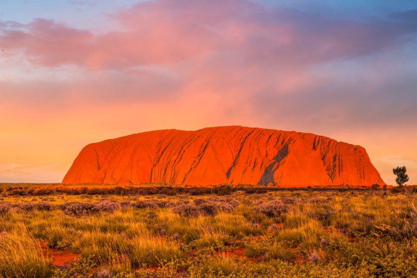 澳洲-北領地-烏魯魯夕陽