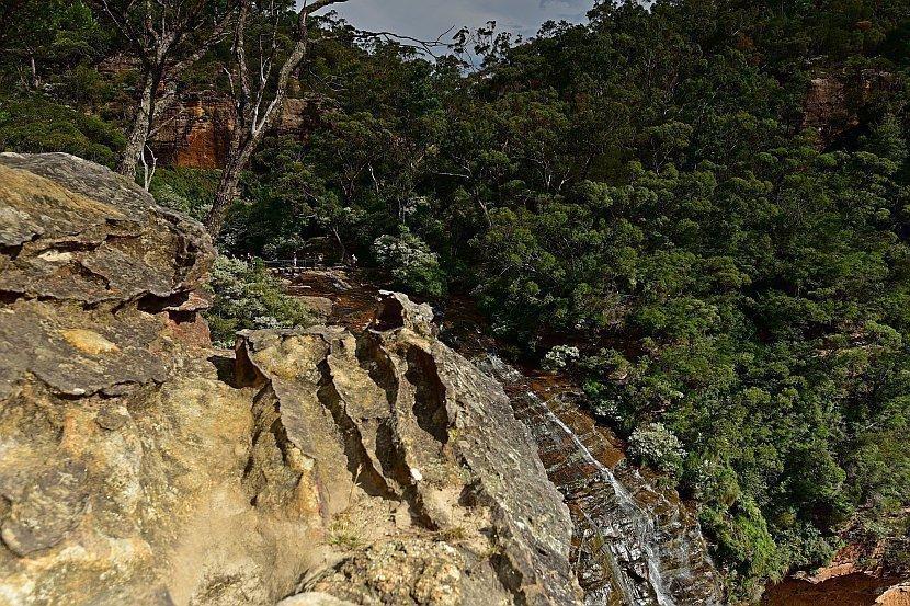 澳洲-新南威爾斯-藍山國家公園- 由Fletchers Lookout欣賞Wentworth Falls