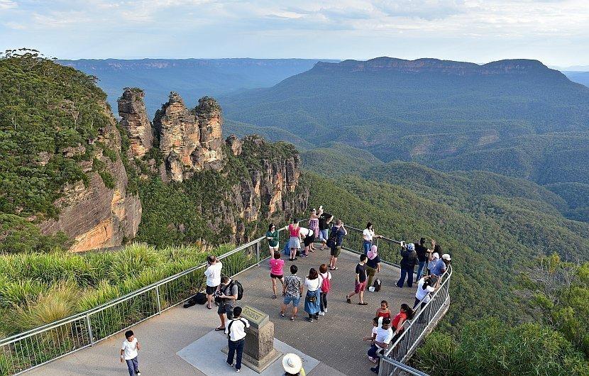 澳洲-藍山國家公園-回聲角的Queen Elizabeth Lookout