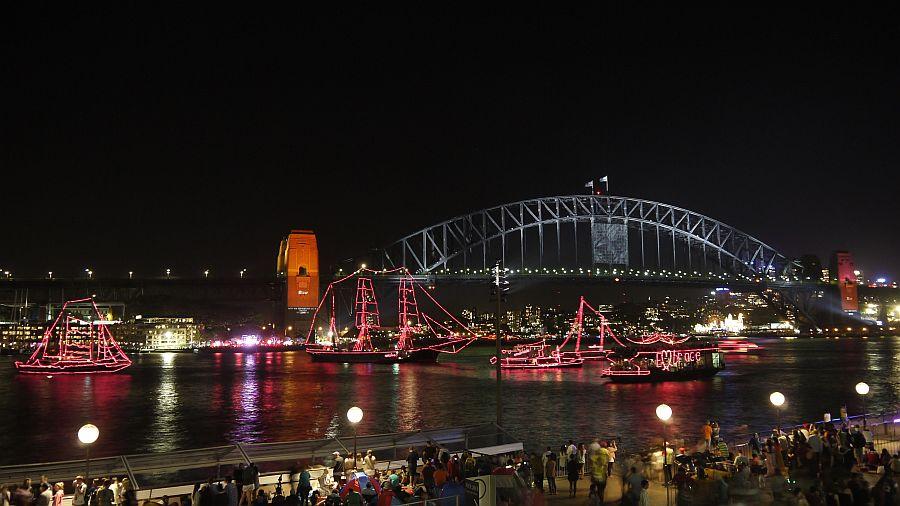 澳洲-雪梨-雪梨歌劇院欣賞跨年煙火