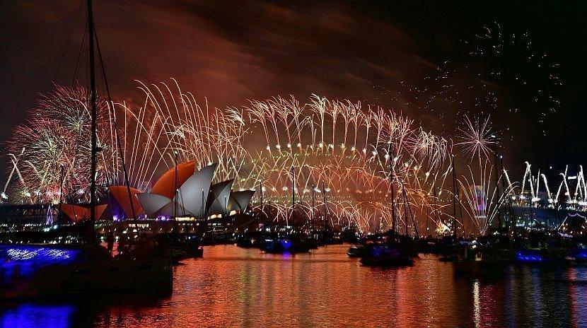 澳洲-雪梨-港灣大橋-跨年煙火