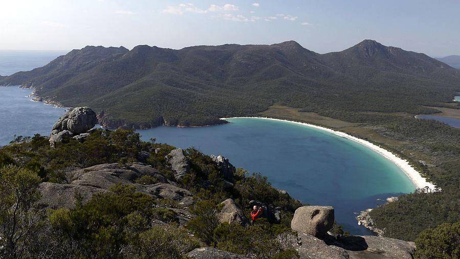 澳洲-塔斯馬尼亞-Wineglass Bay酒杯灣