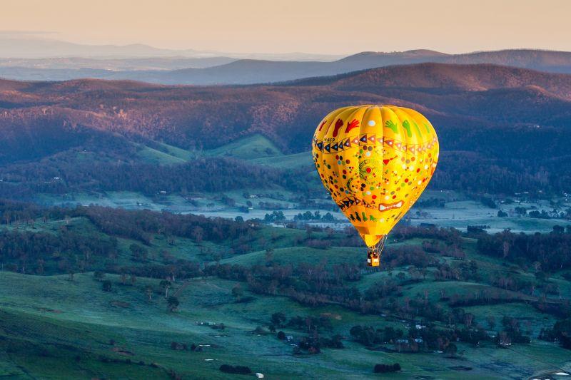 澳洲-維多利亞-亞拉河谷Yarra Valley熱氣球