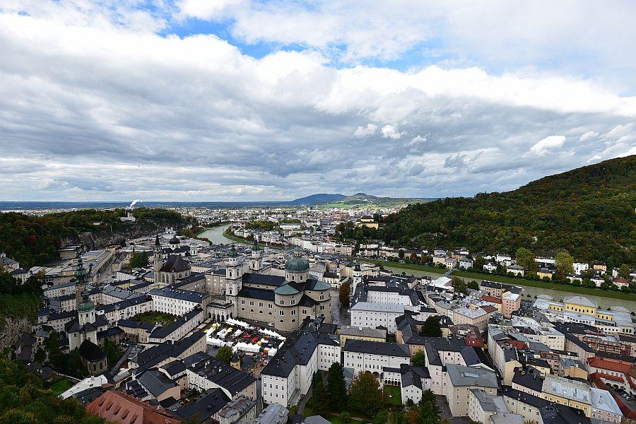 奧地利-薩爾斯堡-由高地要塞欣賞舊城區
