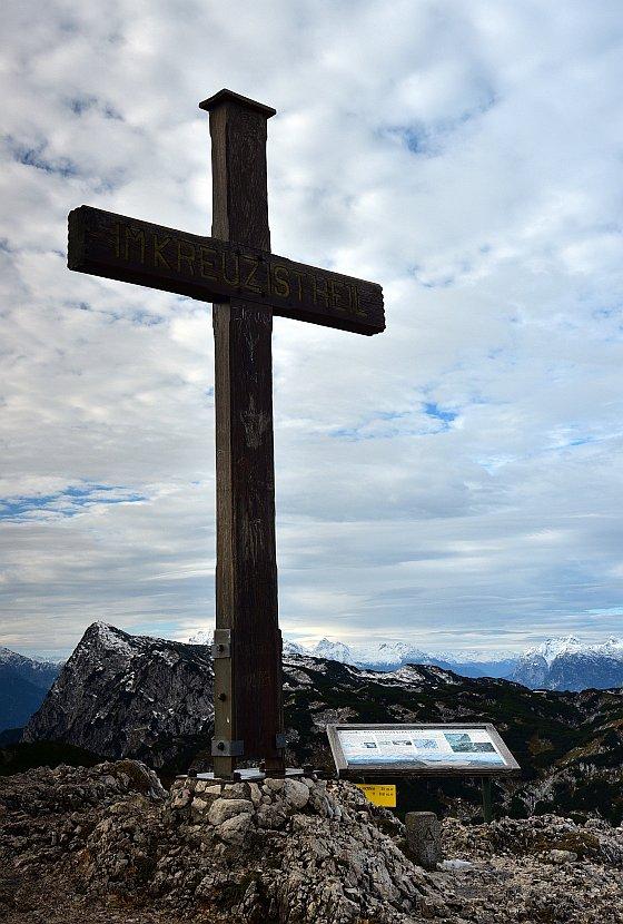 奧地利-薩爾斯堡-溫特山纜車站終點站巨型十字架