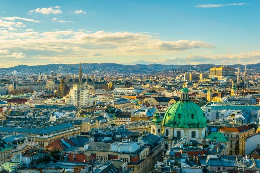 奧地利-維也納-內城區天際線