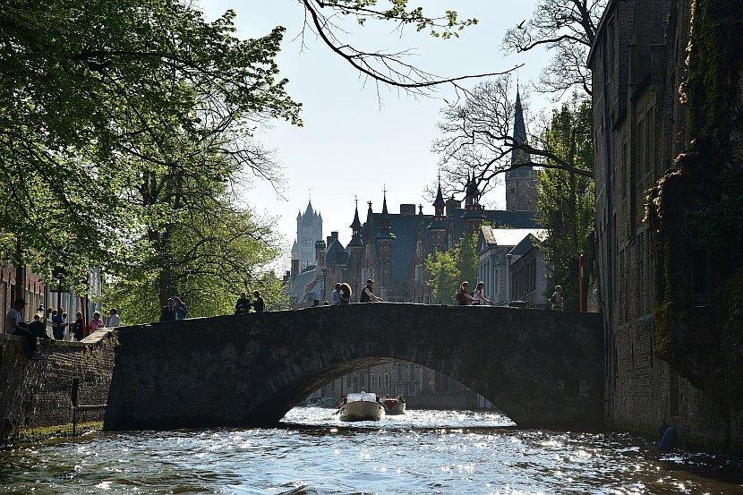 比利時-布魯日-運河遊船