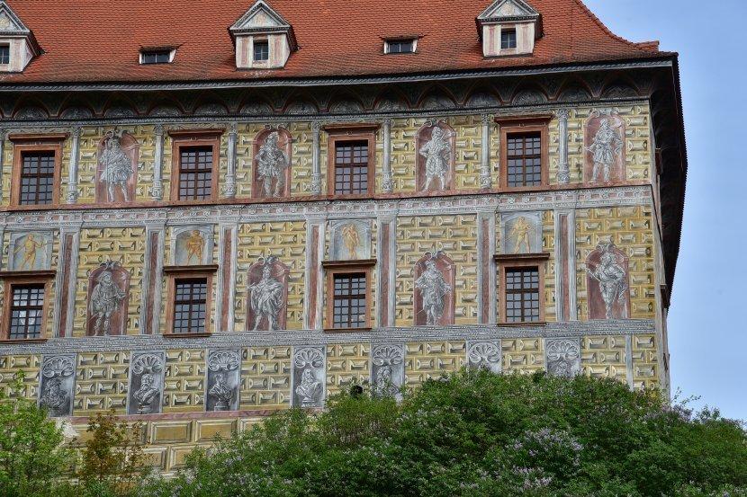 捷克-庫倫洛夫-庫倫洛夫城堡-彩繪塔與小城堡
