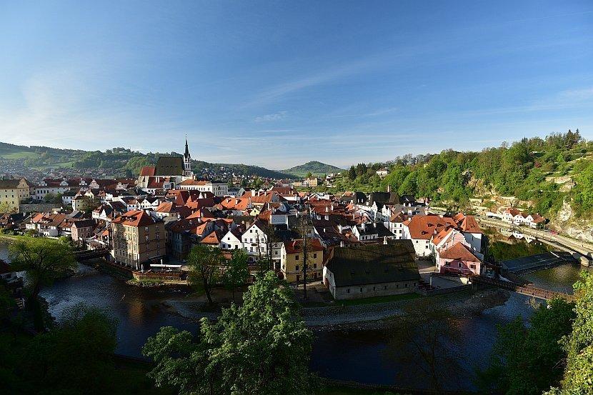 捷克-庫倫洛夫-庫倫洛夫城堡-俯瞰舊城區