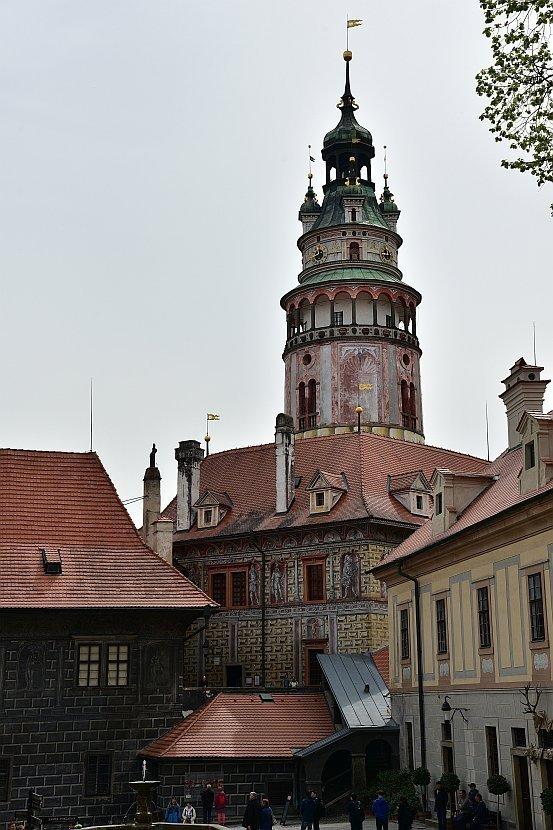 捷克-庫倫洛夫-庫倫洛夫城堡-彩繪塔