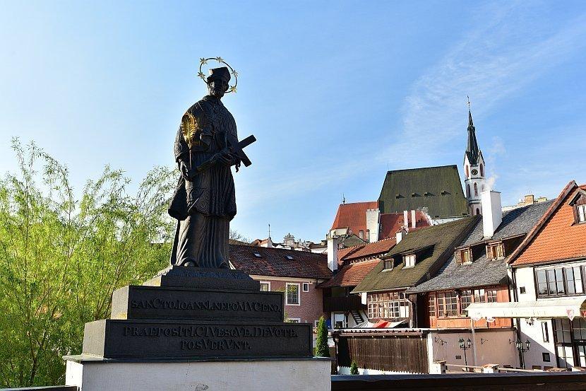 捷克-庫倫洛夫(Český Krumlov)-捷克聖人Jan Nepomucký