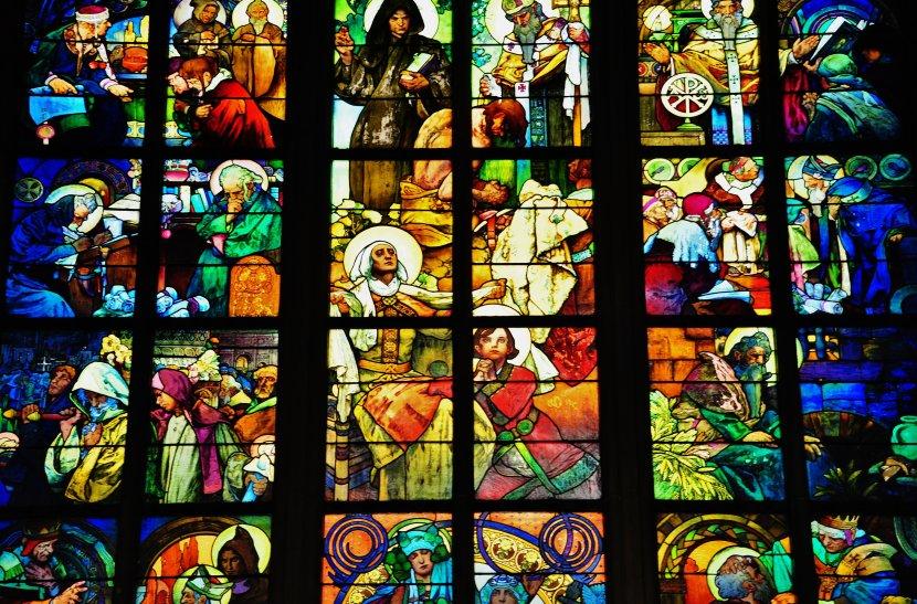 捷克-布拉格-布拉格城堡-慕夏彩繪玻璃