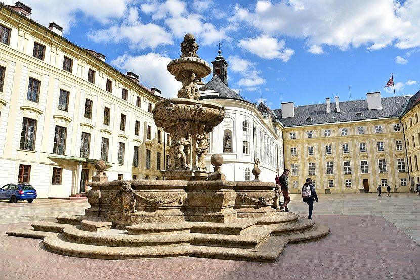 捷克-布拉格-布拉格城堡-柯爾噴泉