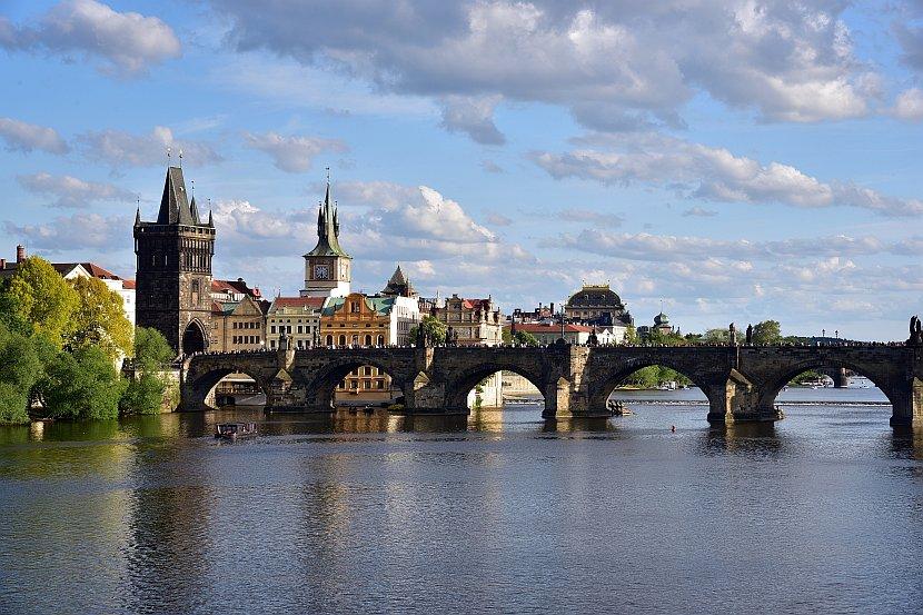 捷克-布拉格-查理大橋與舊城區