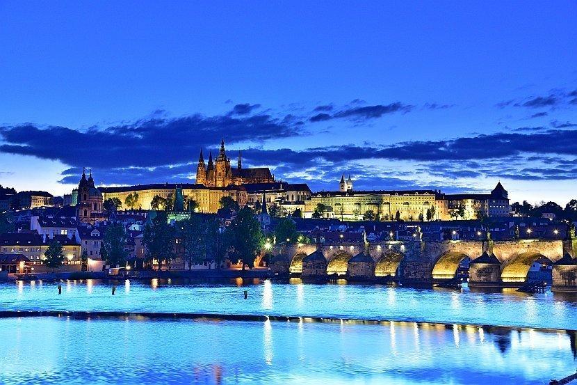 捷克-布拉格-布拉格城堡夜景