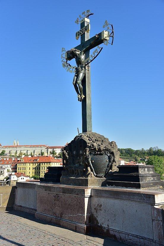 捷克-布拉格-查理大橋上的雕像-The Crucifix and Calvary