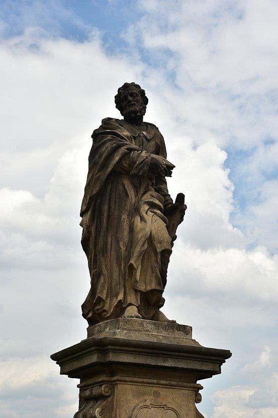 捷克-布拉格-查理大橋上的雕像-Statue of Jude the Apostle