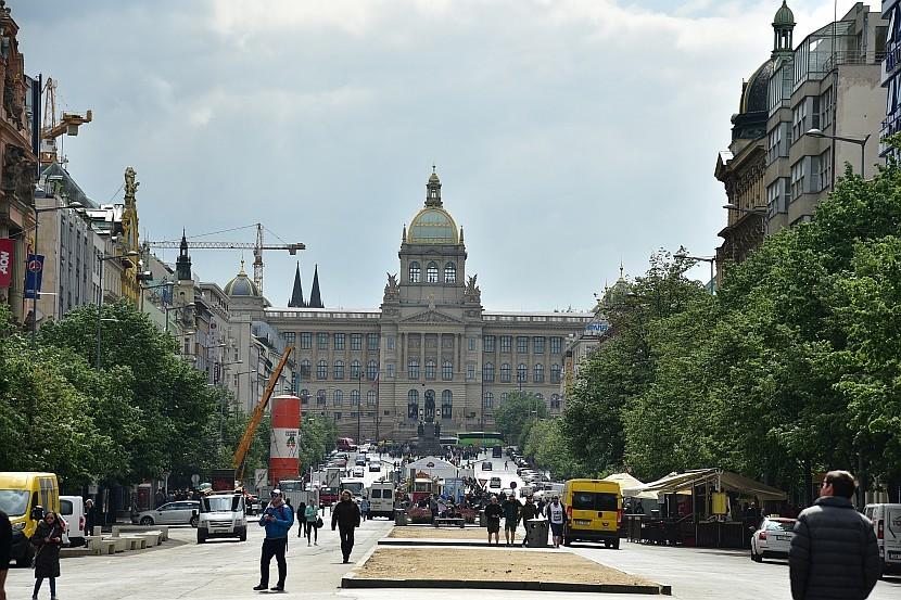捷克-布拉格-新城區-瓦茨拉夫廣場與國家博物館