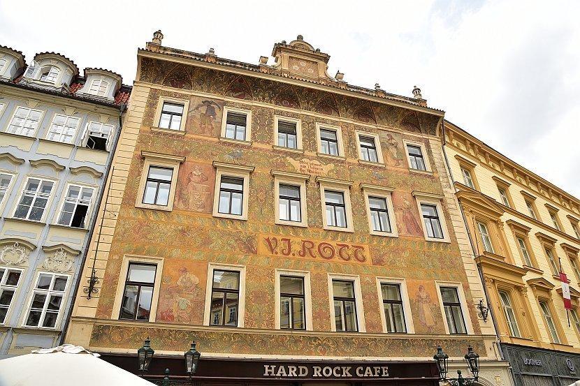 捷克-布拉格-舊城區-三朵白玫瑰之屋