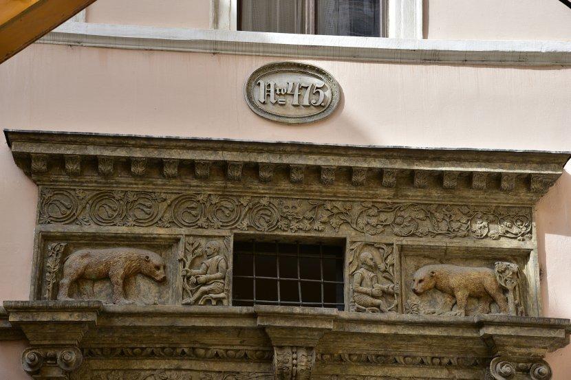 捷克-布拉格-舊城廣場-兩隻金熊之屋