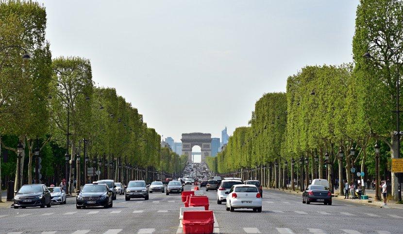 法國-巴黎-香榭大道與凱旋門