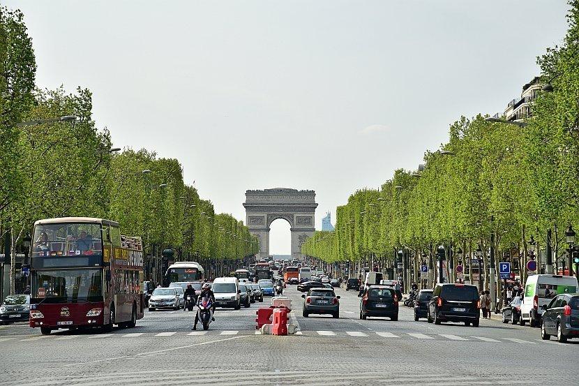 法國-巴黎-凱旋門與香榭大道