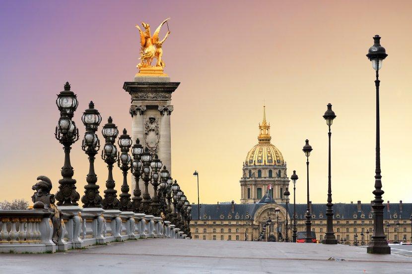 法國-巴黎-傷兵院及亞歷山大三世橋