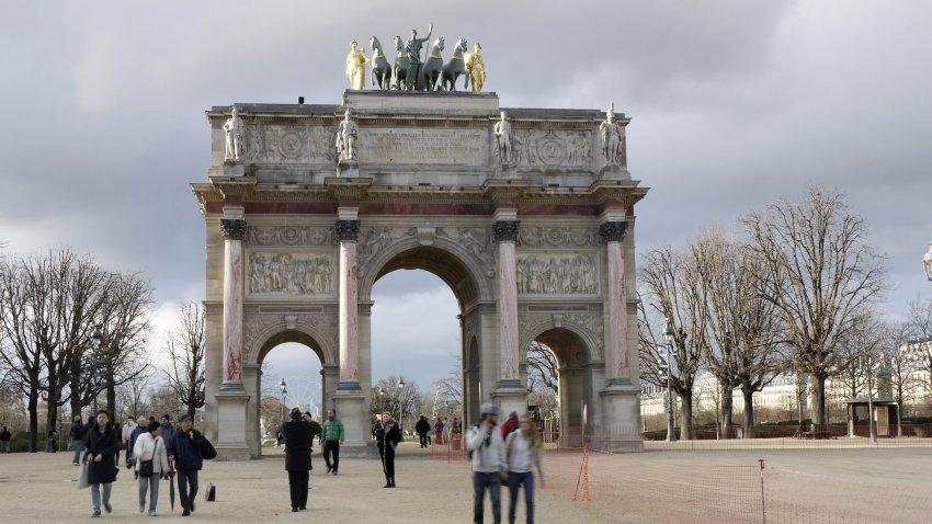 法國-巴黎-卡魯索凱旋門Arc de Triomphe du Carrousel