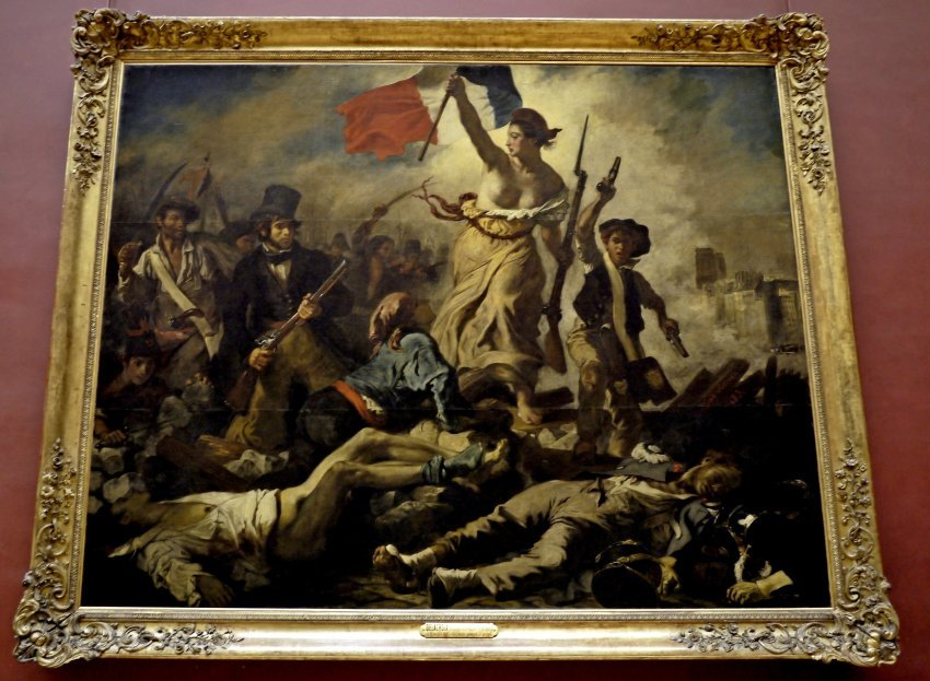 法國-巴黎-羅浮宮louvre-Liberty Leading the People自由領導人民