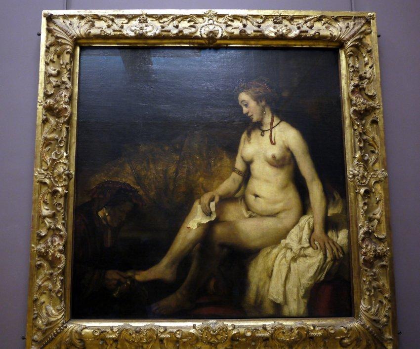 法國-巴黎-羅浮宮louvre-Bathsheba at Her Bath