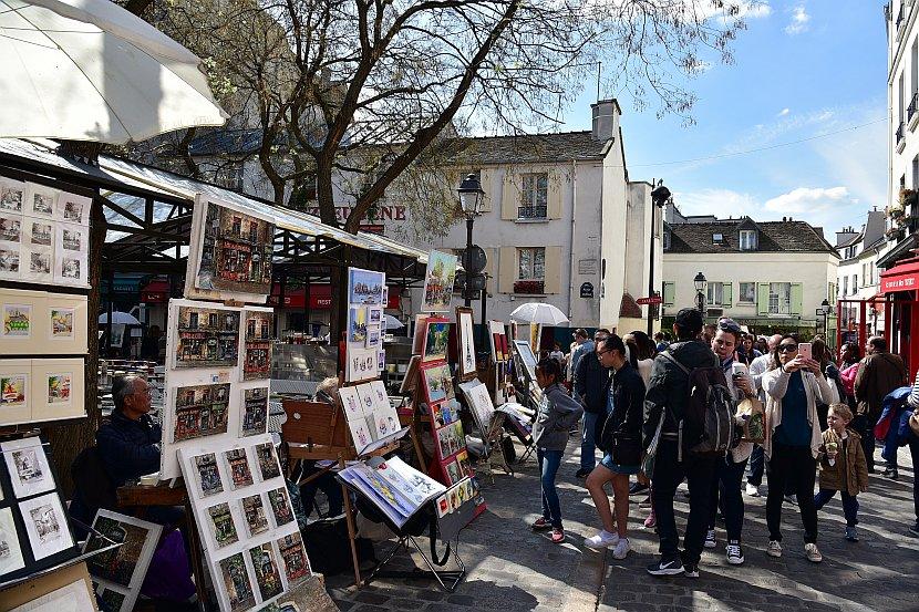 法國-巴黎-蒙馬特-小丘廣場