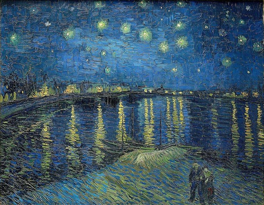 法國-巴黎-奧賽博物館Musée d'Orsay-隆河上的星夜