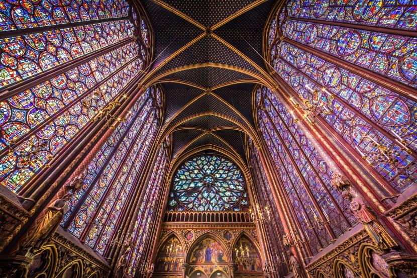 法國-巴黎-聖禮拜堂彩繪玻璃