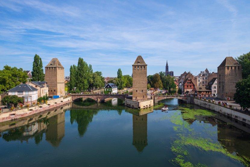 法國-史特拉斯堡-由沃邦攔河壩看小法國區