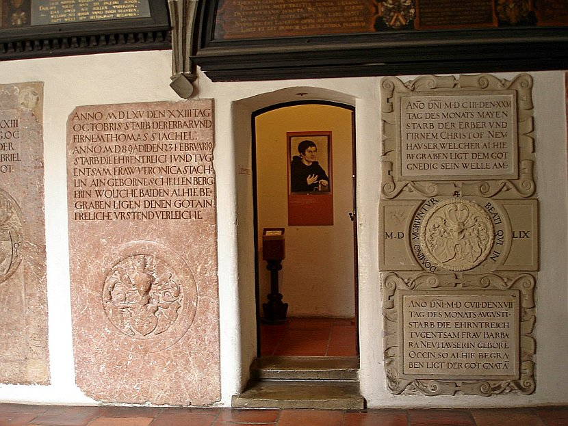 德國-奧格斯堡-聖安娜教堂的馬丁.路德相關展示