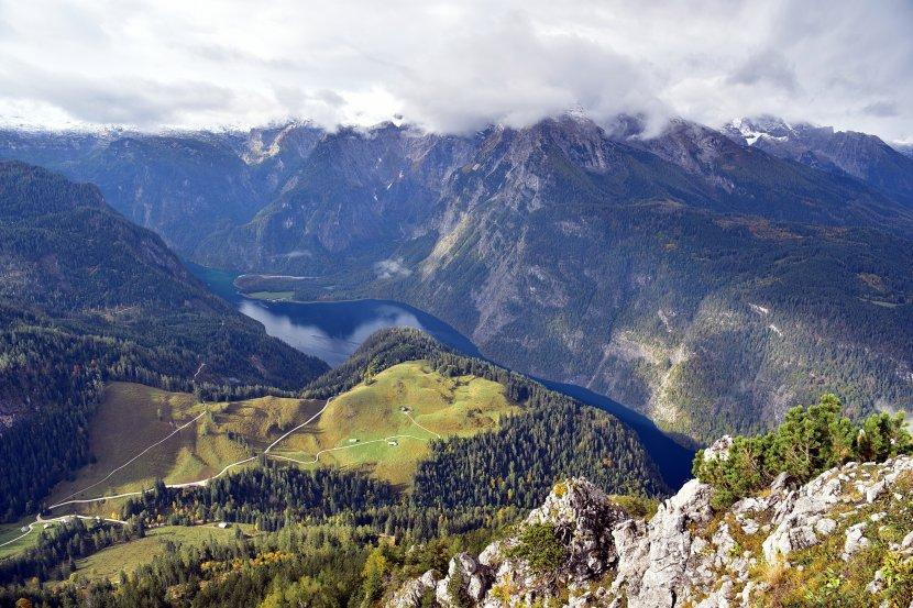 德國-國王湖-搭乘耶拿峰纜車(Jennerbahn)俯瞰國王湖