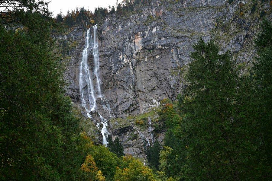 德國-國王湖-Röthbachfall瀑布