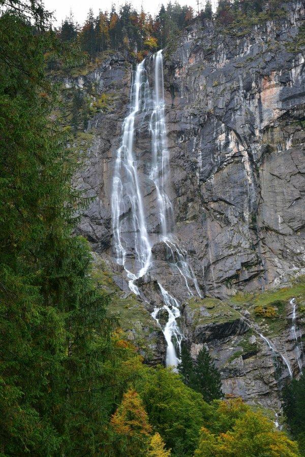 德國-阿爾卑斯山-國王湖-Röthbachfall瀑布