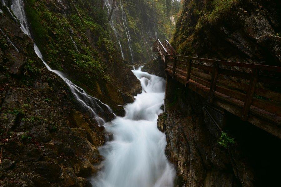 德國-藍紹Ramsau-Wimbachbrücke峽谷