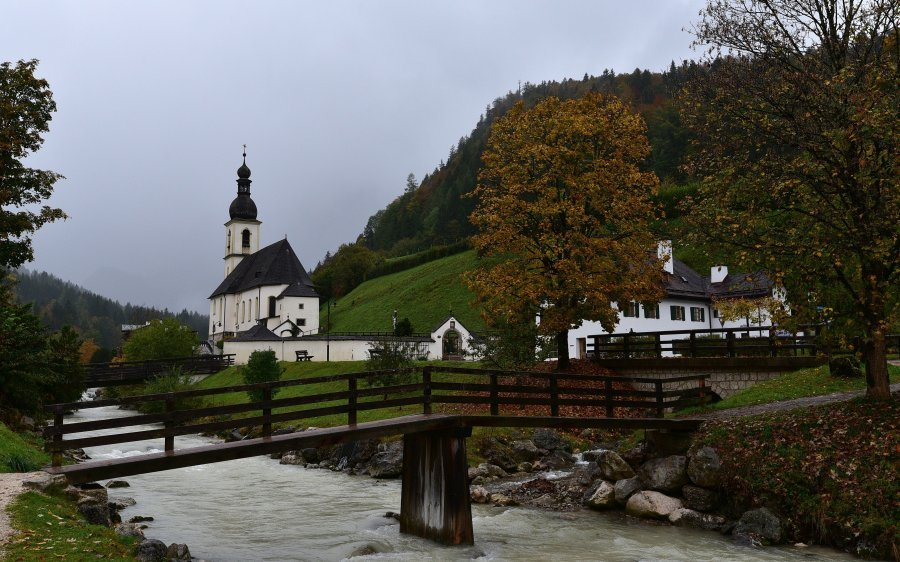 德國-藍紹Ramsau-藍紹教堂Pfarrkirche St. Sebastian