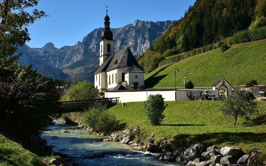 德國-貝希特斯加登-藍紹教堂