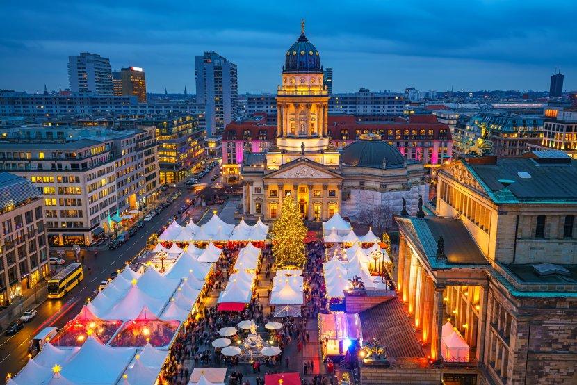 德國-柏林-御林廣場的聖誕市集