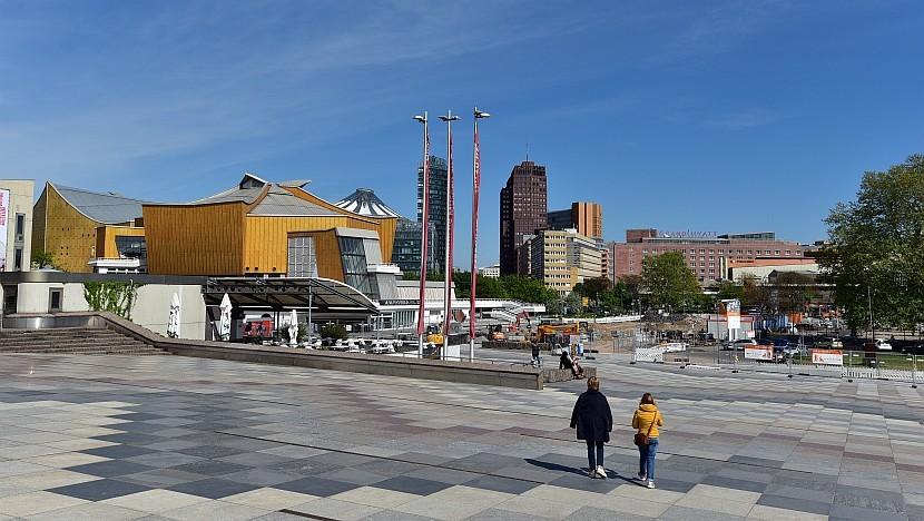 德國-柏林-柏林愛樂廳與波茲坦廣場
